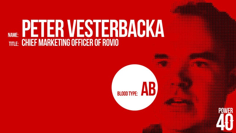 • 31. Peter Vesterbacka, Chief Angry Birds Marketing Officer