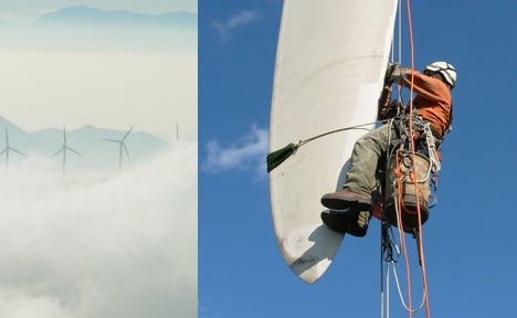 Amazing Jobs: Wind Turbine Cleaner