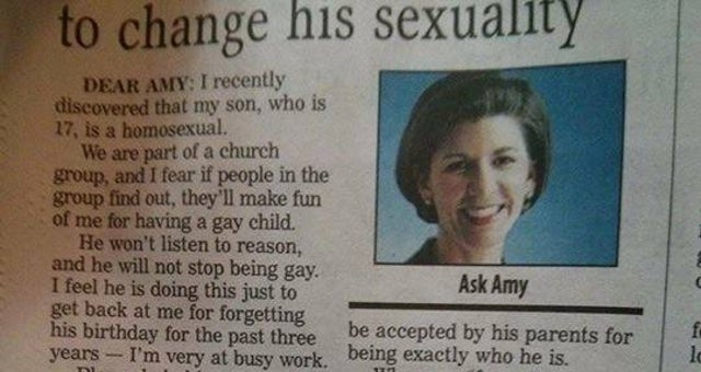 Advice Columnist Pens Perfect Response to Anti-Gay Parent