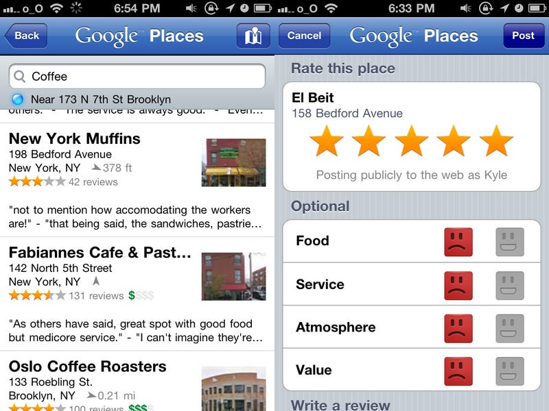 Google Places for iPhone