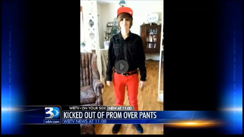 Female High School Student Kicked Out of Prom for Wearing Pants