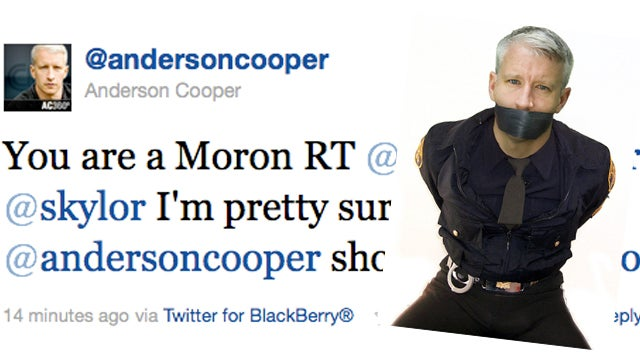Anderson Cooper Calls Tweeter a 'Moron' Over Photoshopped Photos
