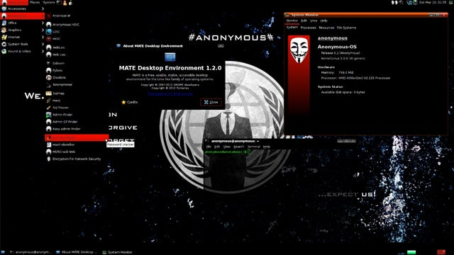 Anonymous Releases Their Own Operating System, Complete with Hacking Tools, and You Should Not Download It