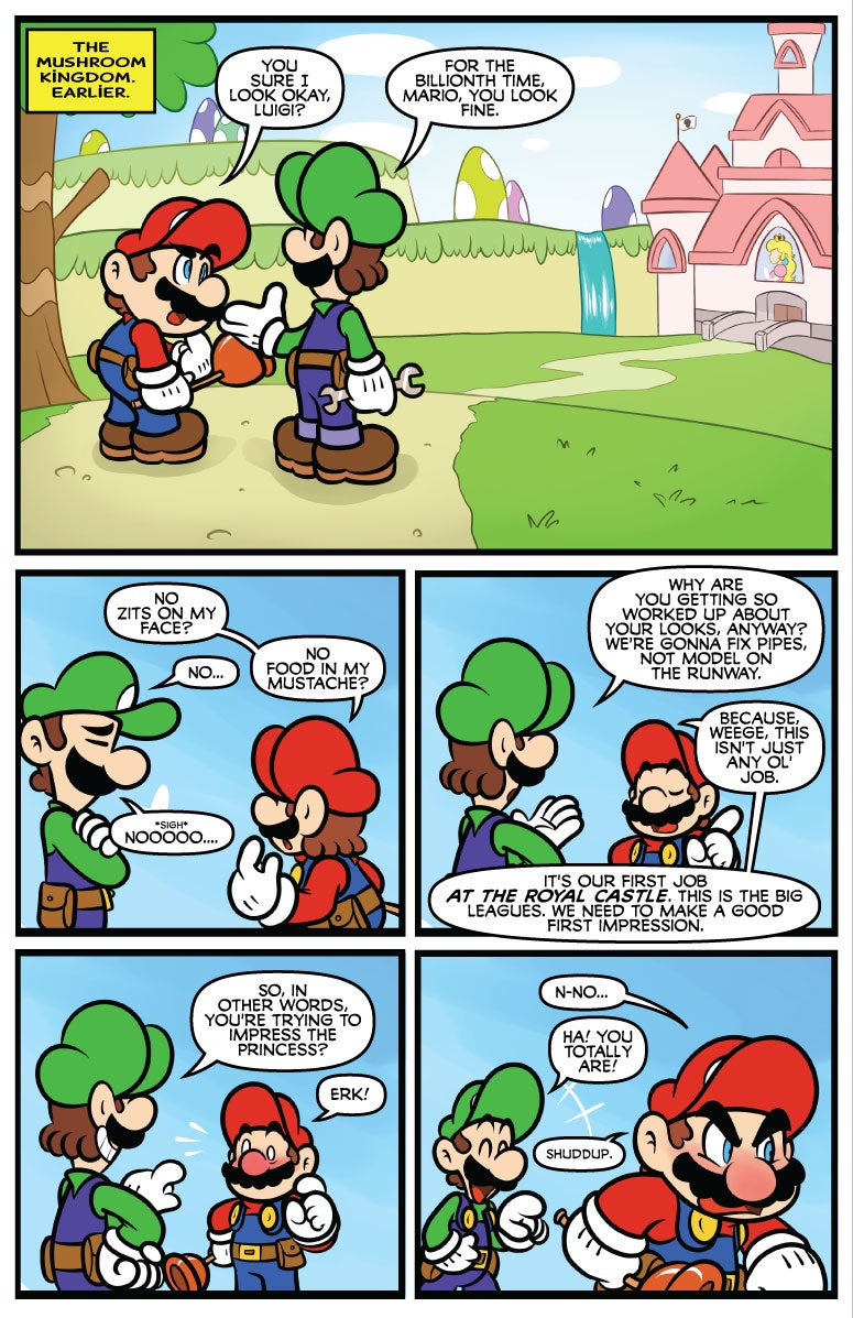 Mario Can't Run From Comic Books