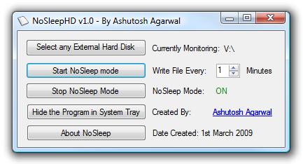 NoSleepHD Stops External Hard Drives from Shutting Down