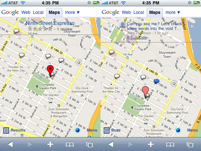 Google Buzz Mobile Hands On: Location Is the Killer App