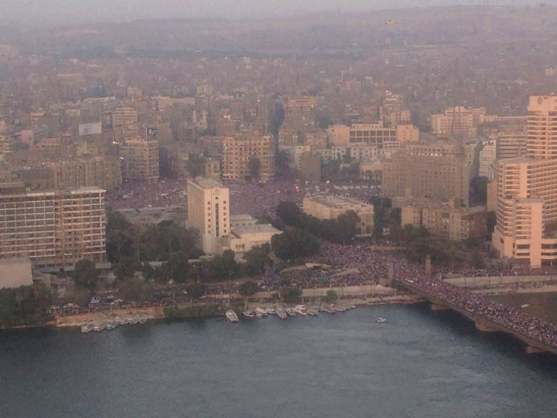 Massive Demonstrations in Egypt as Protesters Flood Streets