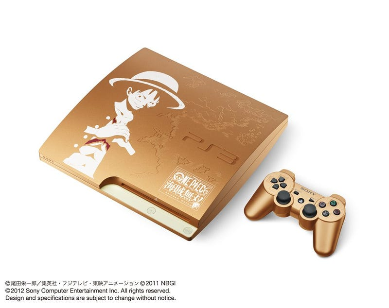 A Golden PS3 Covered in One Piece