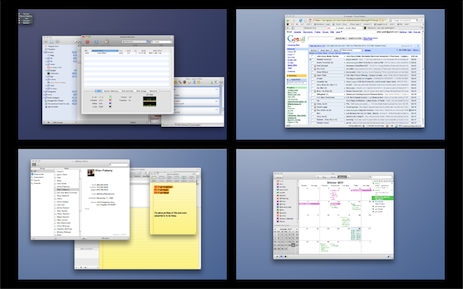 Manage Multiple Desktops with Spaces