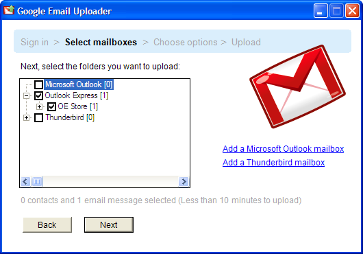 Move Email to Gmail with the Google Email Uploader
