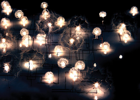 Fragile Future Modular Lighting System Sprouts LED Dandelions From Your Wall