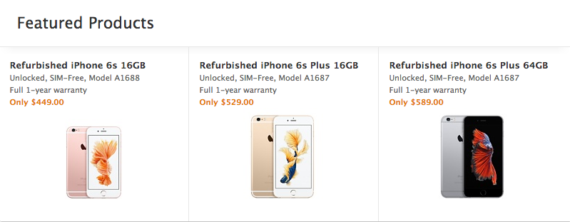 Apple Finally Sells Refurbished iPhones