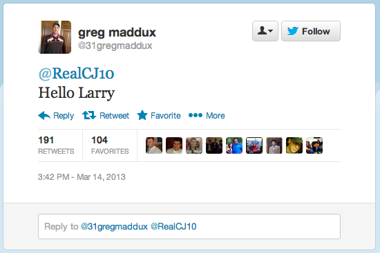 Greg Maddux Is On Twitter, Maybe, And He's Wonderful