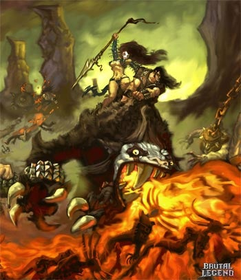 Brutal Legend Art: Everything Is Metal — Even The Sky