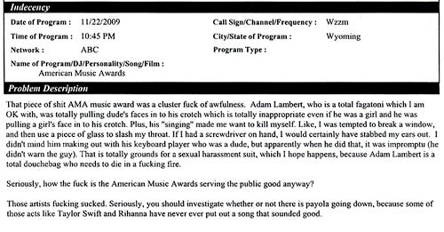 The Adam Lambert FCC Complaints: Won't Somebody Please Think of the F—king Children??