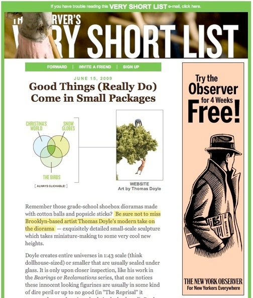 'The Observer's Very Short List' Proudly Brought to You by the New York Observer