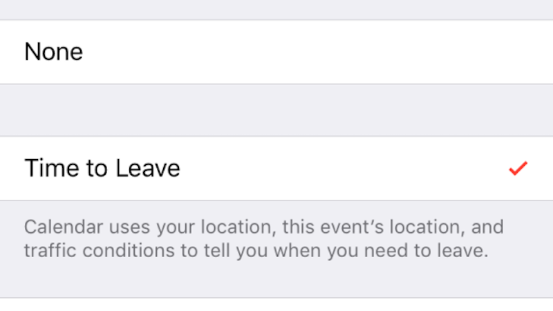 "Set iPhone Calendar Alerts for ""Time to Leave"" To Avoid Traffic Suprises"