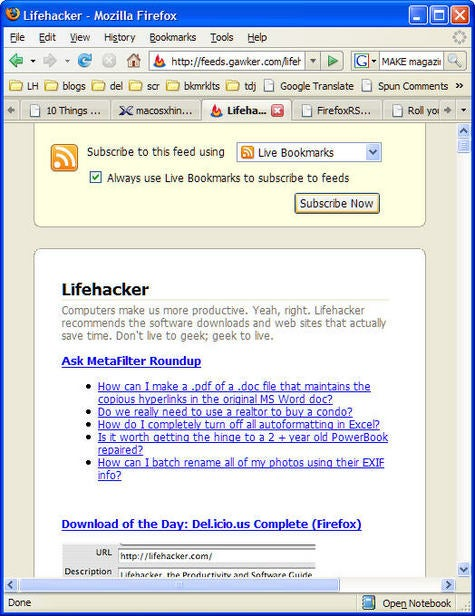 IE7 still handles feeds better than Firefox 2.0