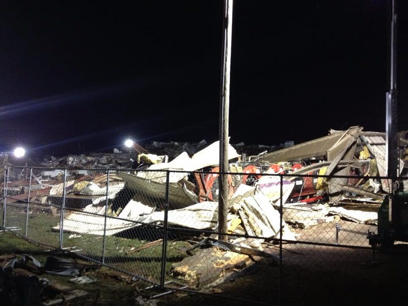 Amazing Photo Shows Bowling Pins Standing in Tornado-Flattened Alley