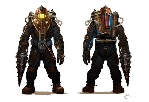 This is the Final Version of BioShock 2's Big Daddy