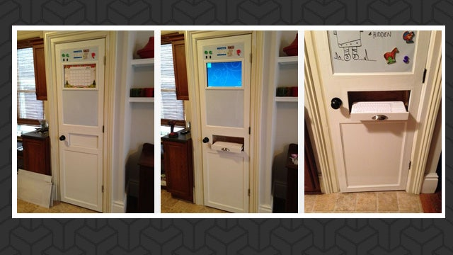 build a hidden kitchen computer into your pantry
