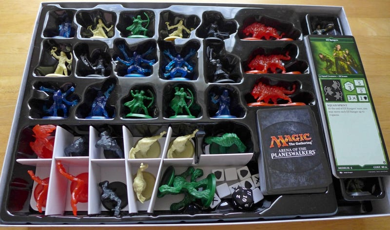 Arena of the Planeswalkers Board Game is Part Heroscape ... Planeswalker Arena Miniatures Size