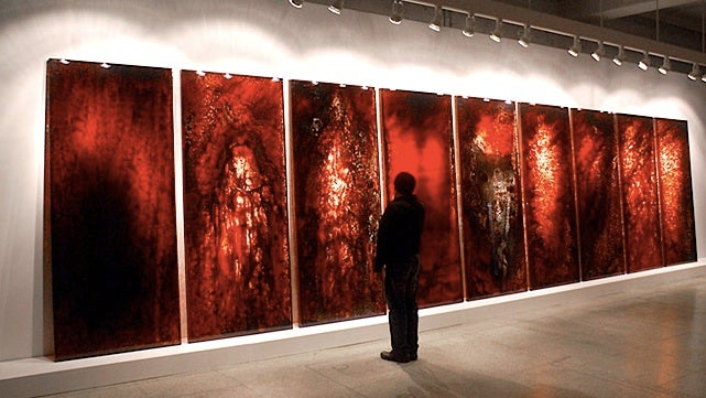 This haunting artwork is made of real blood