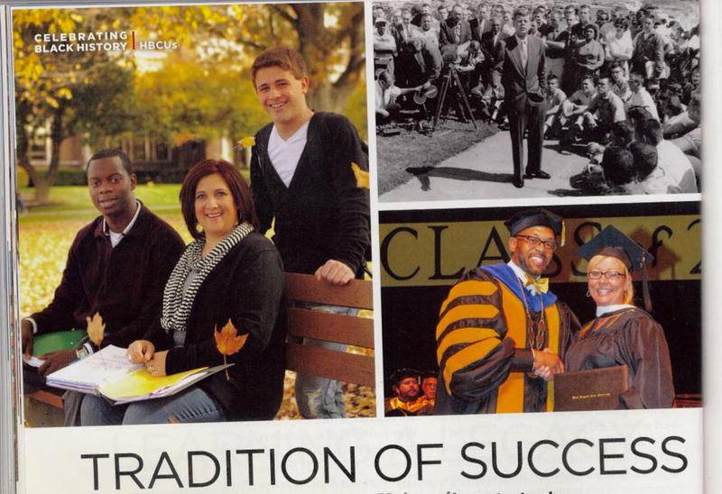 Where's Waldo: White Person in Black College Ad Edition