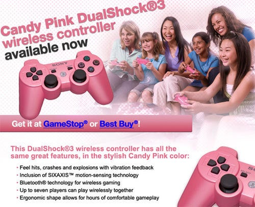 Pink DualShocks? They're For Girls!
