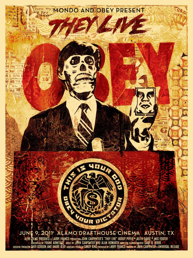 First look at Shepard Fairey's They Live Poster!