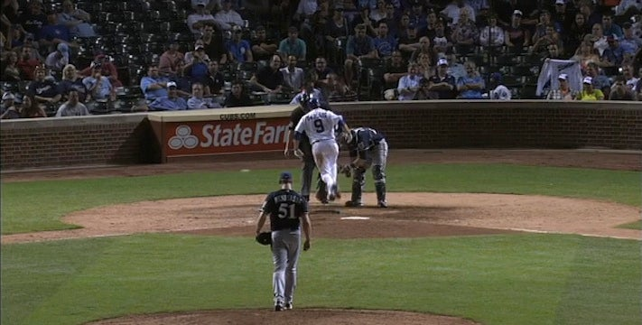 David DeJesus Drew A Walk And Got Hit By A Pitch During The Same Plate Appearance