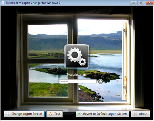 Logon Changer Customizes the Windows 7 Login Screen