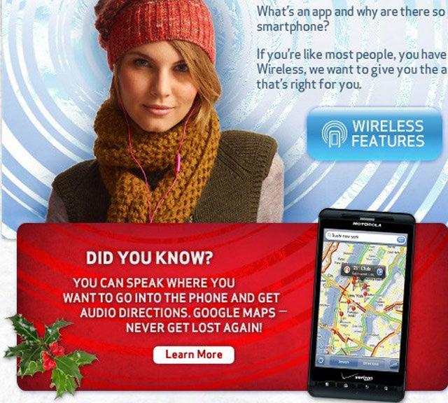 Verizon's Got a Little iPhone In Their Droid X Ad