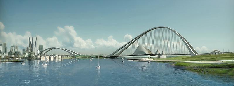 Dubai Building World's Largest, Tallest, Most Futuregasmic Arch Bridge Next Month