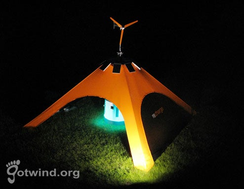 Wind, Solar Recharge Tent Keeps Phones Juiced at Glastonbury Festival