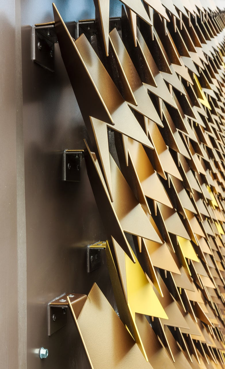 Aluminum Leaves Give This London House a Groovy Geometric Facade