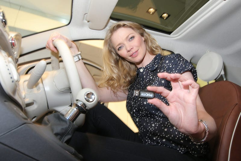 Supermodel Jodie Kidd Eco Test Drives Fiat 500