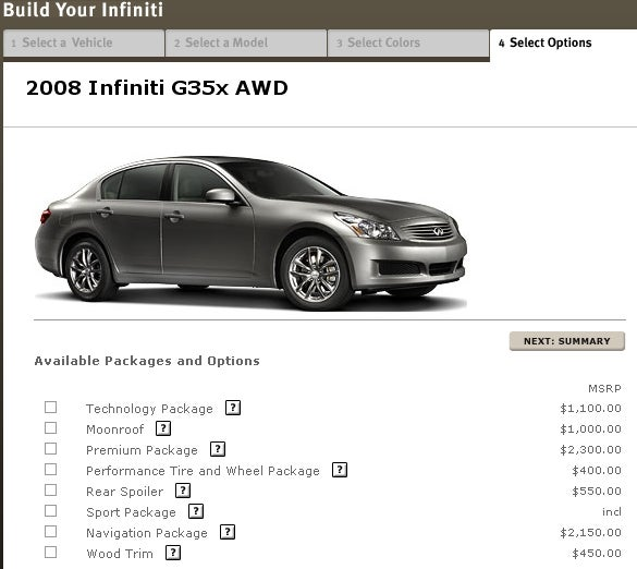 Infiniti G35X Practicing Bait And Switch Pricing?
