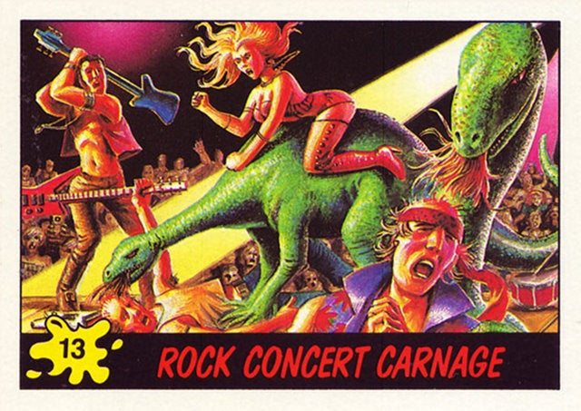 These terrifying Dinosaurs Attack! trading cards from the 1980s traumatized an entire generation