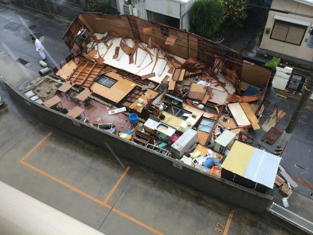 Japanese Building Falls Apart in a Most Unexpected Way
