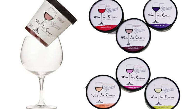 Wine Ice Cream, For Drunk Fatties