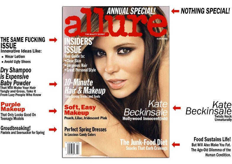 "Did Allure Plagiarize Creative ""10-Minute Hair"" Angle From Glamour?"
