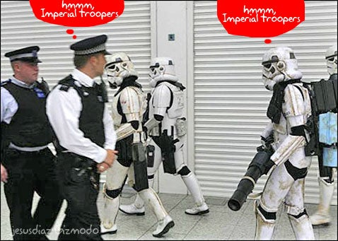 Imperial Stormtroopers Invade British Empire at London Star Wars Convention