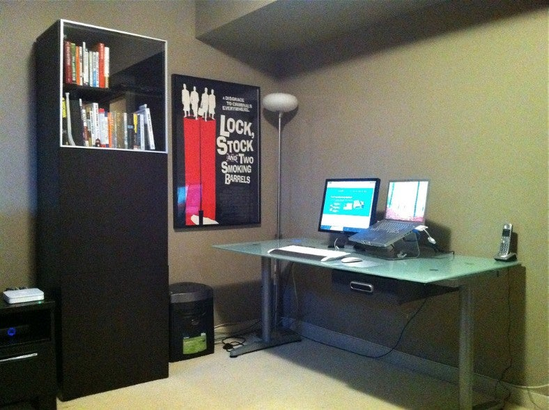 Cluttered Gray to Organized Red: An Office Makeover