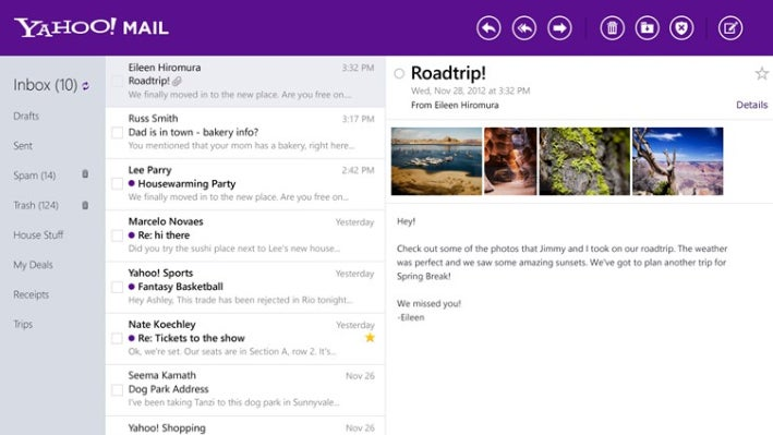 Yahoo Mail for Windows 8 Gallery