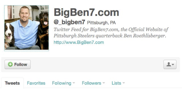 Ben Roethlisberger Apparently Joined Twitter Last Night, A Move That Can Only End Well