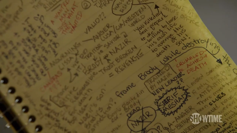 What Can We Learn From Carrie's Notebook in the New Homeland Preview?