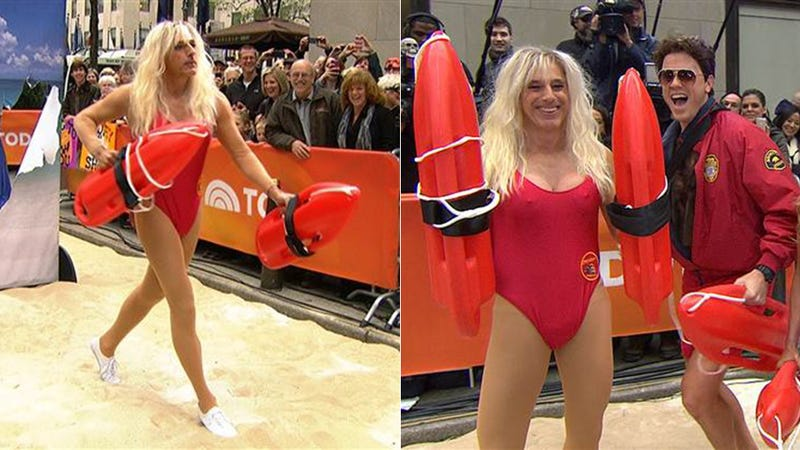 Here's Matt Lauer Dressed as a Baywatch Babe
