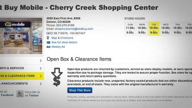 "Search Online Stores ""By Location"" for Special Clearance Options"