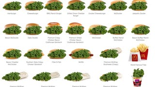 List of Kale Items Made With Kale On New McDonald's Menu (With Kale)